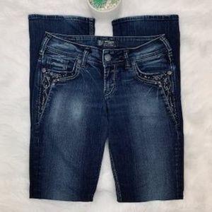 Silver SUKI 17 Mid-Rise Dark Wash Jeans
